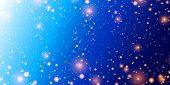 Shining Outer Space With Planets, Nebulae And Stars. Cosmos. Night Sky With Lights And Stars. Blue S poster