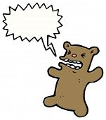 cartoon shouting teddy bear