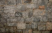 Texture Of A Stone Wall. Old Stone Wall Texture Background. Stone Wall As A Background Or Texture. G poster