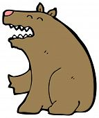 cartoon fearsome bear
