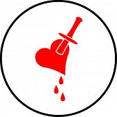 Heart stab symbol