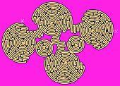 Giant Geometric Maze Puzzle