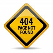 404 page not found vector sign