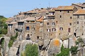 Panoramic view of Vitorchiano. Lazio. Italy.