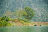 Phong Nha-K? B�?� ng National Park, Vietnam - mountain landscape with river