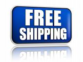 stock photo of free-trade  - free shipping button  - JPG