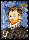 Sir Francis Drake Famous Explorer Postage Stamp