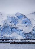 Antarctic Iceberg Wall