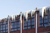 Dangerous Icicles On The Roof