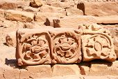 Stones In Ancient Rock City Petra In Jordan / World Wonder