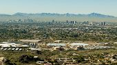 stock photo of piestewa  - Downtown Phoenix Arizona Taken from Piestewa  - JPG