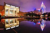 TAIPEI, TAIWAN - JANUARY 14: Sun Yat-Sen Memorial Hall January 14, 2013 in Taipei, TW. Sun-Yat Sen is considered the founder of the Republic of China.