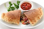stock photo of half  - calzone - JPG