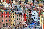 colorful Italy series Cinque terre. Riomaggiore