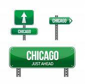 Signo de la calle de la ciudad de Chicago