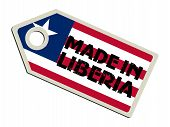 label with flag of Liberia