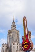Palace of Culture and guitar