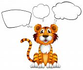 Illustration of a tiger with empty callouts on a white background