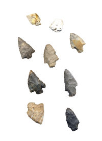pic of arrowheads  - Assortment that is part of a collection of American Indian Arrowheads - JPG