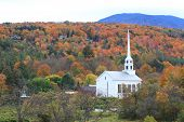 Vermont church steeple