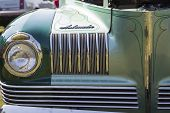 1941 Nash Ambassador Aqua Blue Car Close up