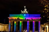 Brandenburg Gate Anf Festival Of Lights In Berlin