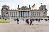Reichstag Building In Autumn