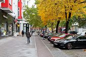 Potsdamer Strasse In Berlin In Autumn