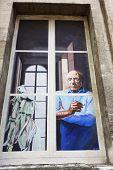 Window mural in Avignon, France