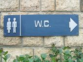 wc sign. toilet sign. public toilet sign
