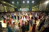 MOSCOW - MAY 25: Beautiful people at 11th Viennese Ball in Gostiny Dvor on May 25, 2013 in Moscow, R