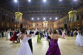 MOSCOW - MAY 25: Couples whirling in the dance at 11th Viennese Ball in Gostiny Dvor on May 25, 2013