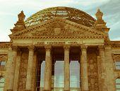 Retro Looking Berlin Reichstag