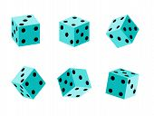stock photo of crap  - an images of set of  Game dice set - JPG