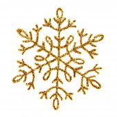 Gold Shiny Snowflake
