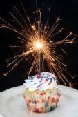 Cupcake And Sparkler