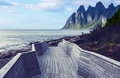 Boardwalk on Senja island,Norway