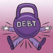 image of borrower  - Much debt the borrower can crush big load - JPG