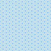 Seamless hexagons blue texture. Repeatable pattern with honeycomb motif.  Vector art.