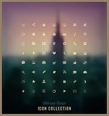picture of glyphs  - Web and Mobile Icon Collection - JPG