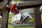Padlocks, Symbols Of Love In Julia's Yard In Verona