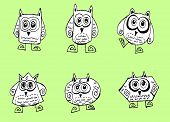 Cartoon animals and owls in Jaidee Family Style