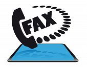 Modern fax icon