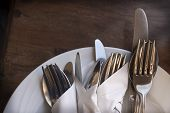 Cutlery On Plate