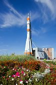Samara, Russia - September 22: Real Soyuz Spacecraft As Monument On September 22, 2012 In Samara. So