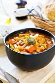 Vegetables Soup With Chickpea