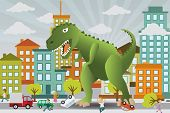 stock photo of godzilla  - Vector illustration  - JPG