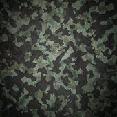 Grunge Military Camouflage Background
