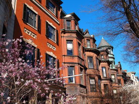 image of victorian houses  - Boston victorian homes taken on a beautiful spring day on April 18 2008 - JPG