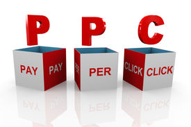 foto of payment methods  - 3d illustration of acronym ppc pay per click - JPG